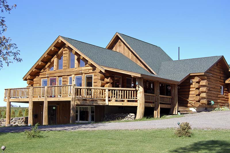 Rustic Half Log Building System Maine Cedar Log Homes