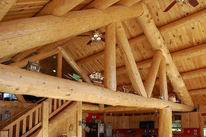 Rustic Half Log Building System Maine Cedar Log Homes