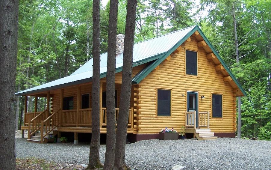 Pioneer Cedar Log Family Home Maine Cedar Log Homes
