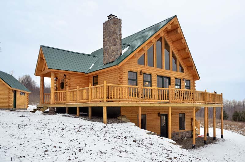 Sugarhill Cedar Log Family Home Maine Cedar Log Homes