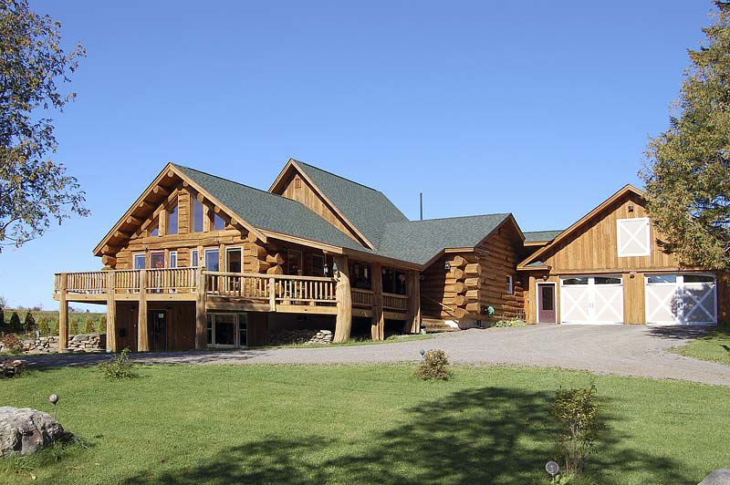 Rustic Half Log Building System | Maine Cedar Log Homes