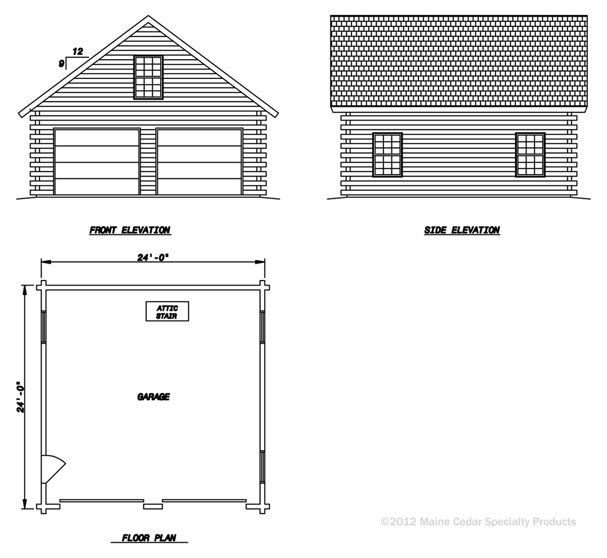 Double Garage With Loft Cedar Log Garage