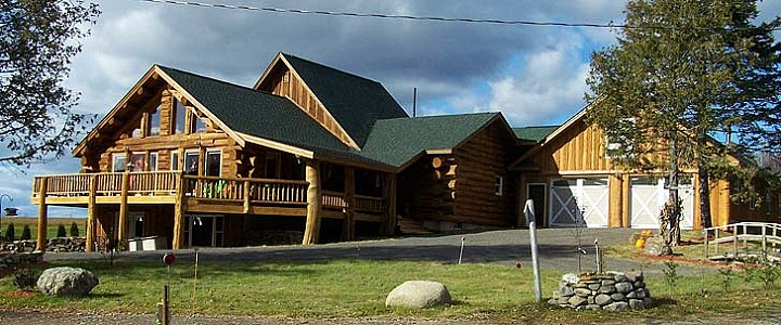 Cedar log family home plans maine cedar log homes for House plans maine