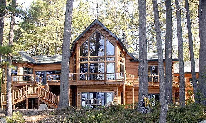 Winnipesaukee Cedar Log Family Home Maine Cedar Log Homes